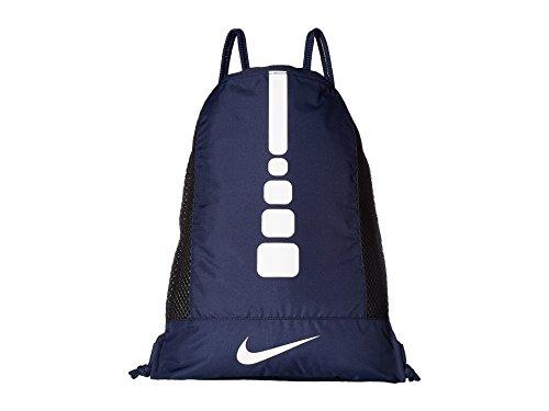 Nike Men's Hoops Elite Basketball Gym Sack (Midnight Navy/Midnight Navy/White)