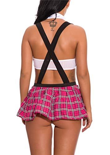 LeaLac-Women-Summer-Schoolgirls-Outfit-Costume-Lingerie-Set-With-Tie-Top-Shirt-Mini-Skirt