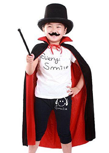 Convict Clown Child Costume (Maybest Kids Halloween Accessories Costume Children Boys Cloak Fancy Magician Cape Vampire Cosplay School Performance Birthday Party Cloak Red One Size)