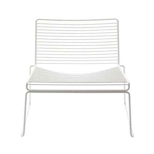 HAY Hee Lounge Stuhl, weiss lackiert 72x67x67cm Sitzhöhe  37cm für Innen- und Außerbereich geeignet