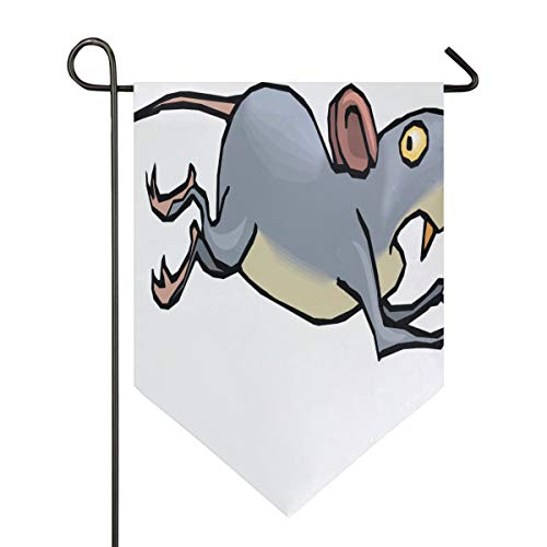 Jumping Anime Mouse Garden Flag Indoor & Outdoor Decorative Flags for Parade Sports Game Family Party Wall Banner Season Porch Lawn Double Sided 12 x 18.5 inches]()
