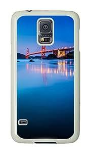 Samsung S5 Case,VUTTOO Stylish Golden Gate Bridge San Francisco Hard Case For Samsung Galaxy S5 / Galaxy SV / Galaxy S V - PC White