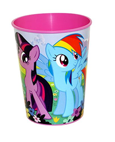 My Little Pony Friendship is Magic 16 oz Plastic Cup by Designware ~ Twilight Sparkle, Rainbow Dash, Pinkie Pie, Applejack