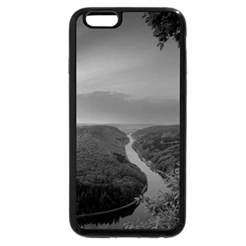 iPhone 6S Case, iPhone 6 Case (Black & White) - Earth River Sunset