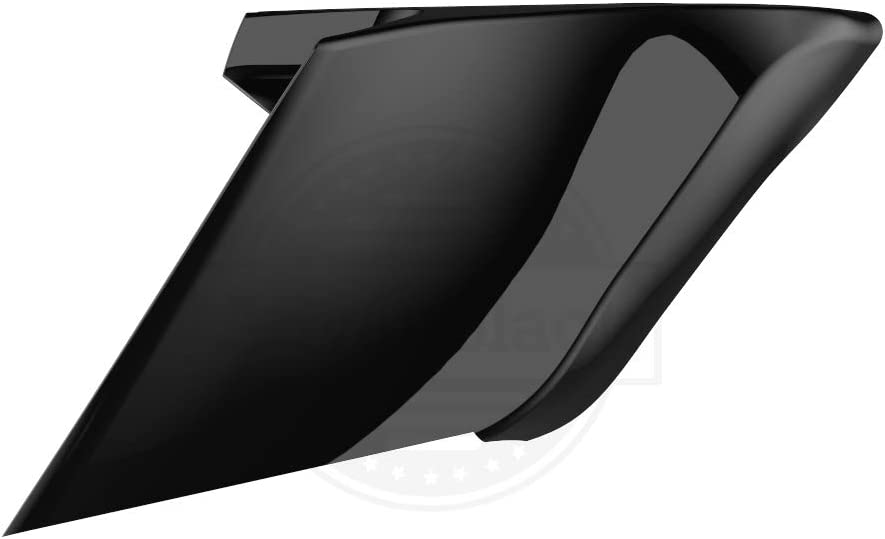 Us Stock Advanblack ABS CVO Style Extended Side Covers Stretched Side Panels Fit for Harley Touring Road Glide Street Glide Road King Special 2014-2020 (Vivid Black)