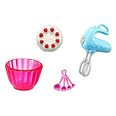 Kitchen Breakfast Pasta & Baking Accessory Playset & Coloring Book for Barbie: Toys & Games