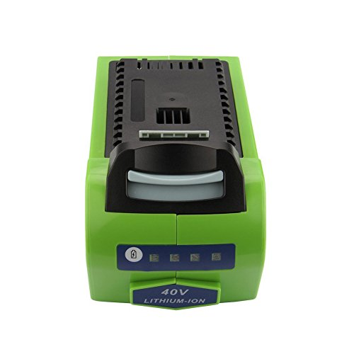 Exmate 40V 5.0Ah GreenWorks 29472 29462 G-MAX Battery Replacement Li-ion Batteries, Rechargeable Greenworks Power Tool Cordless Battery LG Cell (Not for Gen 1)