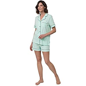 PajamaGram Womens Pajamas Soft Cotton – Pajama Shorts for Women