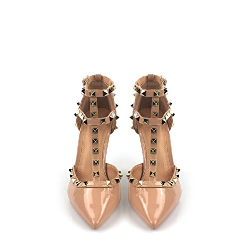 Miss Patent Vertical nude Tira Crudo Mujer Diva r6Y1xfnqr
