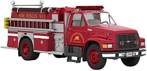 Hallmark Keepsake Christmas Ornament 2020 Year-Dated Fire Brigade 1996 Ford F-800 Fire Engine Light-Up