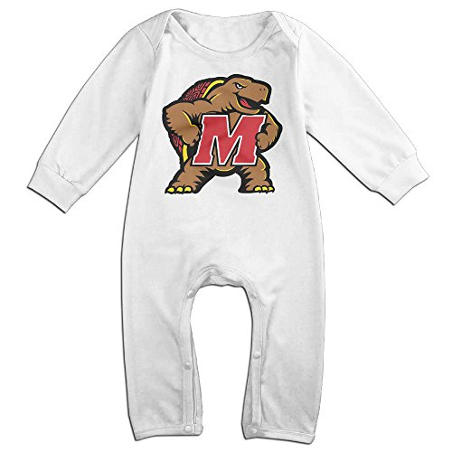 Dara University Of Maryland M Newborn Babys Long Sleeve Jumpsuit Outfits White 6 (Bruce Lee Costume Diy)