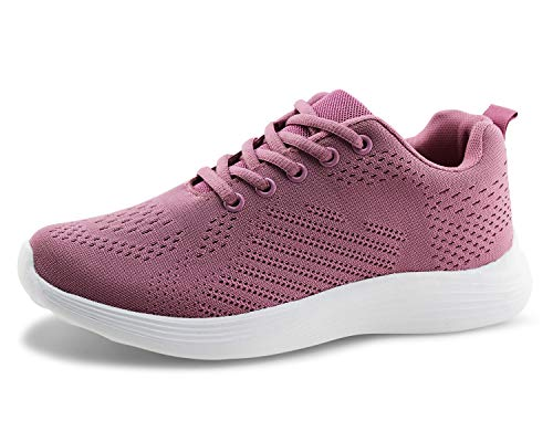 2ea007742e55c Jabasic Women Lightweight Knit Shoes Casual Athletic Sports Sneakers  (Rose