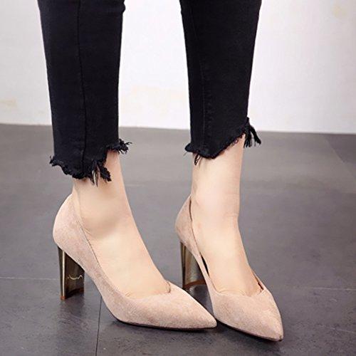 singola b scarpa scarpa l'estate primavera appuntita lady e calzatura alto moda lavoro tacco shallowly La FLYRCX sexy semplice TZqwBxz