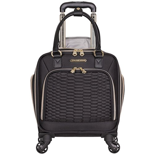 en's Polyester Twill Double Pocket Quilted Python 4-Wheel Underseater, Black (4 Exterior Pockets)