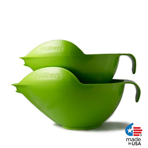 POURfect Mixing Bowls 1010-6 & 8 Cups - Green Apple
