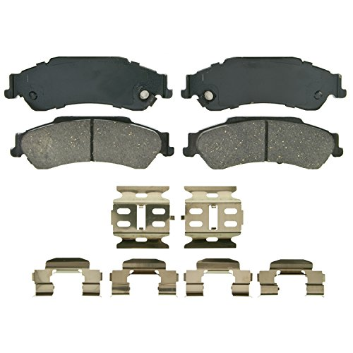 Wagner QuickStop ZD729 Ceramic Disc Pad Set Includes Pad Installation Hardware, Rear ()