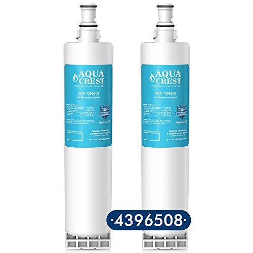 Price comparison product image AQUACREST 4396508 Replacement for Whirlpool 4396508,  4396510,  EveryDrop Filter 5,  EDR5RXD1,  NLC240V,  PUR W10186668 Refrigerator Water Filter (2 Pack)