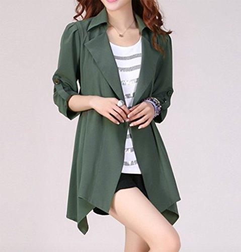 Asym Coat Veste Trench Mince Cardigan Manteaux Femme Lache WSLCN wqpBCC