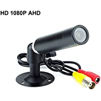 2000TVL CCTV 1080P HD AHD Mini Bullet Security Camera, Mini Spy Hidden Waterproof Camera 2MP StarLight, 3.6mm Lens 90 Degree DC 12V