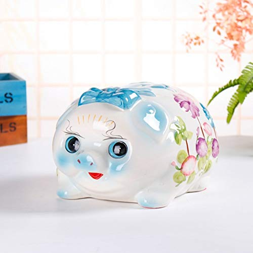 (GE&YOBBY Ceramic Piggy Bank,Creative Pig Saving Box Large Painted Money Box for Birthday d)