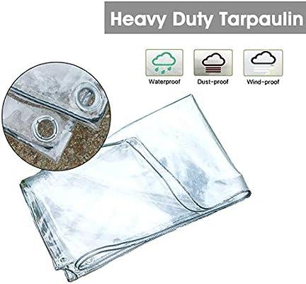 LXXTI Lona Impermeable Suelo Camping Transparente, 0.3mm Lona ...