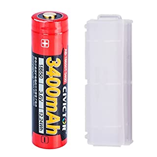 18650 Lithium Rechargeable Batteries 18650 Battery Panasonic Protected Button Top lithium-ion Cell Low Self Discharge 3.7v 3.6v Li-ion 3400mah 18650 Lithium ion Batteries High Drain Flashlight