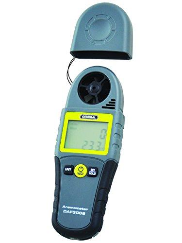 General Tools DAF3008 3-Parameter Mini Digital Anemometer...