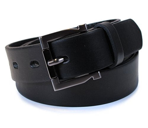(TM2-129) Mens Belt 100% Real Leather Black, Brown, White Size 28~36
