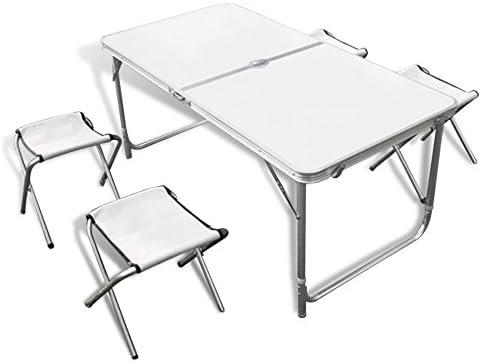 Velocidad mesa plegable mesa de camping mesa Maleta, Color blanco ...