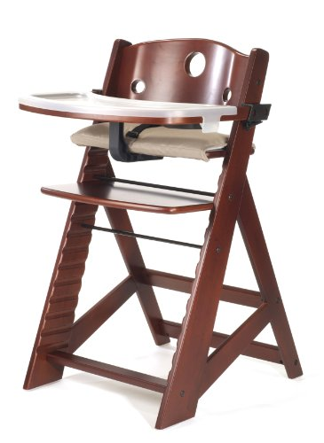 Best Price Keekaroo Height Right High Chair with Tray, Mahogany