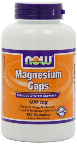 NOW Foods Magnesium Capsules 180 Capsules  400mg