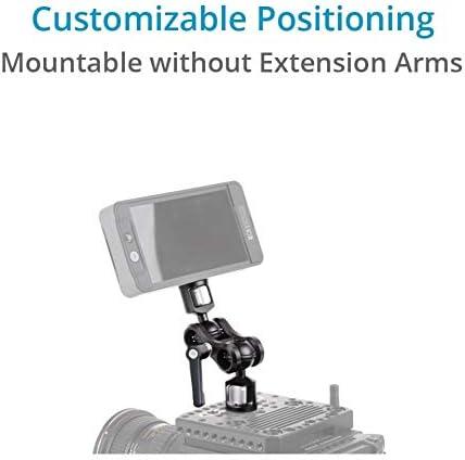 "Multipurpose Adjustable Accessory Arm for DSLR Camera Rig//LCD Monitor//LED Video Light//Audio Recorder//Flash Light//Cage//Tripod PROAIM Muffle Lark 5/"" Aluminum Monitor Arm MA-100-01"