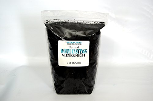 5 Pounds All Natural Worm Castings by The Seed Supply - Vermicompost Microbes - Earthworm Castings ()