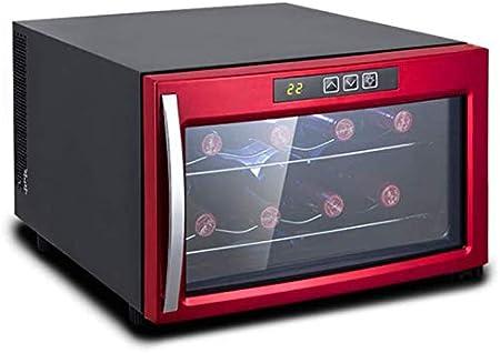 TYUIOYHZX Enfriador de vinos de encimera- Blanco y Rojo Vino Frigorífico refrigerador refrigerador refrigerador - Freestanding Compact Mini Frigorífico 8 Capacidad de Botella
