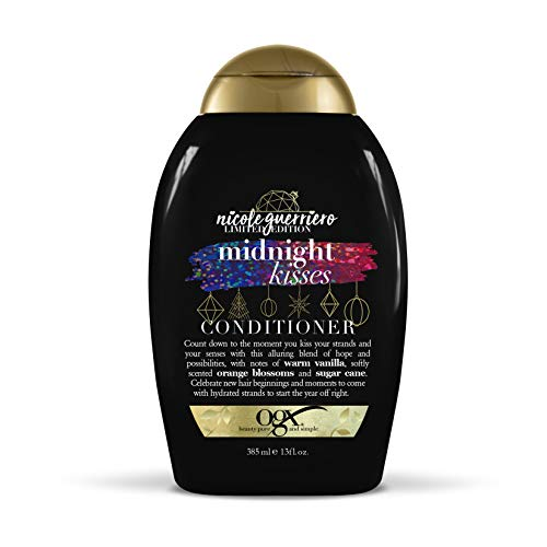 OGX Limited Edition Holiday Collection 2018 Midnight Kisses Conditioner, 13 Ounce Bottle Moisturizing Color Safe for Smooth Shine, No Dyes, Parabens & Sulfate Free Surfactant System, All Hair Types ()