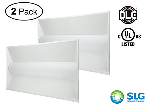 [2 Pack-DLC listed] SLG LED Lay-in Troffer Light-2X4 FT-42 Watts-5000K Daylight White-4200LM-Direct Lit-Dimmable-TFARS24D42W27V50KY