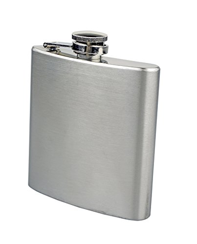 SE HQ66SP Stainless Steel Hip Flask, 6 oz.