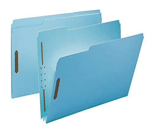 2 Inch Expansion File - Smead 100% Recycled Pressboard Fastener File Folder, 2 Fasteners, 1/3-Cut Tab, 2