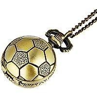 Forma de Pelota de fútbol reloj de bolsillo, tamaño pequeño reloj de bolsillo de cuarzo