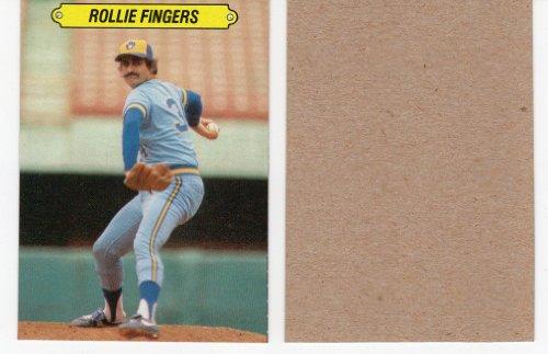Rollie Fingers Rare Topps Blank Back Baseball Card Milwaukee Brewers