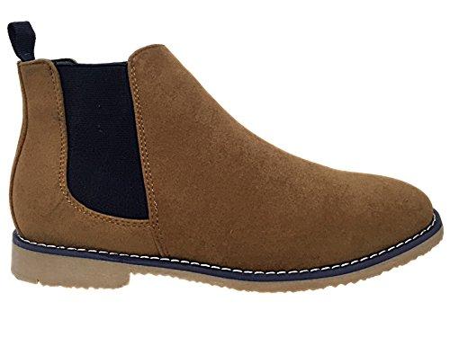 Foster Footwear ,  Jungen Unisex Erwachsene Herren Damen Chelsea Boots Braun / Marineblau