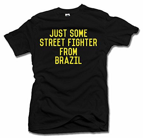 JUST SOME STREET FIGHTER FROM BRAZIL S Black Men's Tee (6.1oz)