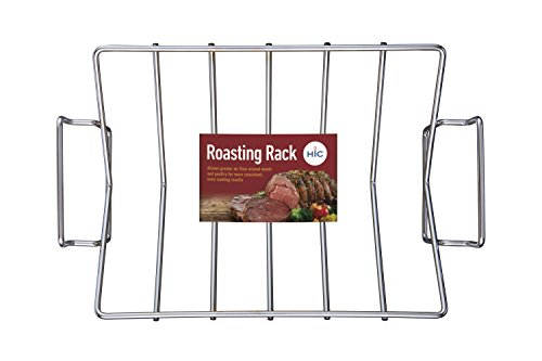 HIC Professional Roasting Rack, 15 by 11 by 4-inch