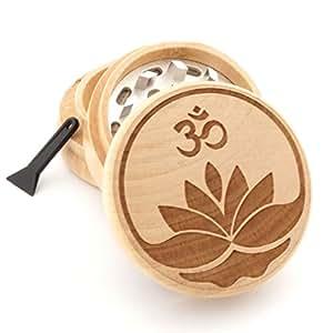 Om Design Engraved Premium Natural Wooden Grinder # PW050916-112