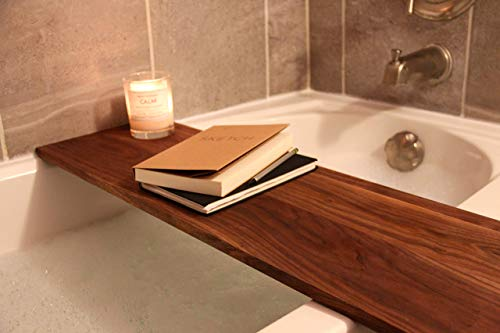 Adjustable Bath Shelf, Fits all standard size tubs, Wooden Bath Caddy, Bath Caddy Tray, Luxury Bath Tub Shelf, Gift For Her ()
