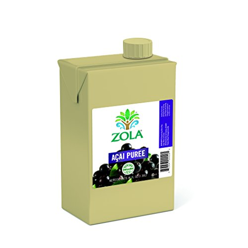 Zola Brazilian Superfruits Acai Berry Puree, 46 Ounce Boxes (Pack of 6)