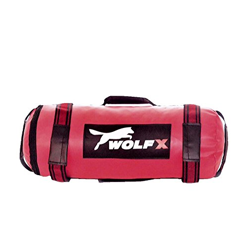 Wolfx Power Cloth/Sand FILLED Bag Boxing MMA Training Fitness 5-40kg (Red) (Un-Filled Bag)