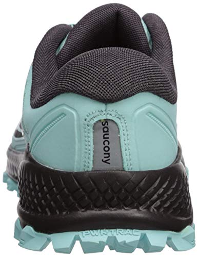 Saucony Women's Peregrine ISO Trail Running Shoe, Aqua/Grey, 6.5 M US by Saucony (Image #2)