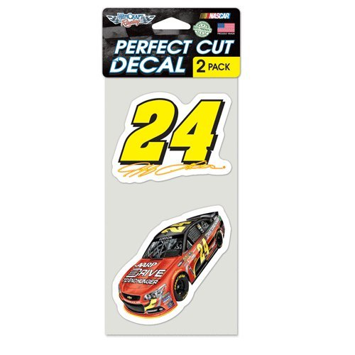 Jeff Gordon Die Cut Decal Set Of Two 4x4