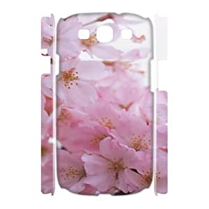 3D [Pink Rose Series] Samsung Galaxy S3 Cases Pink Flower Bunch Macro Ilike, Jumphigh - White